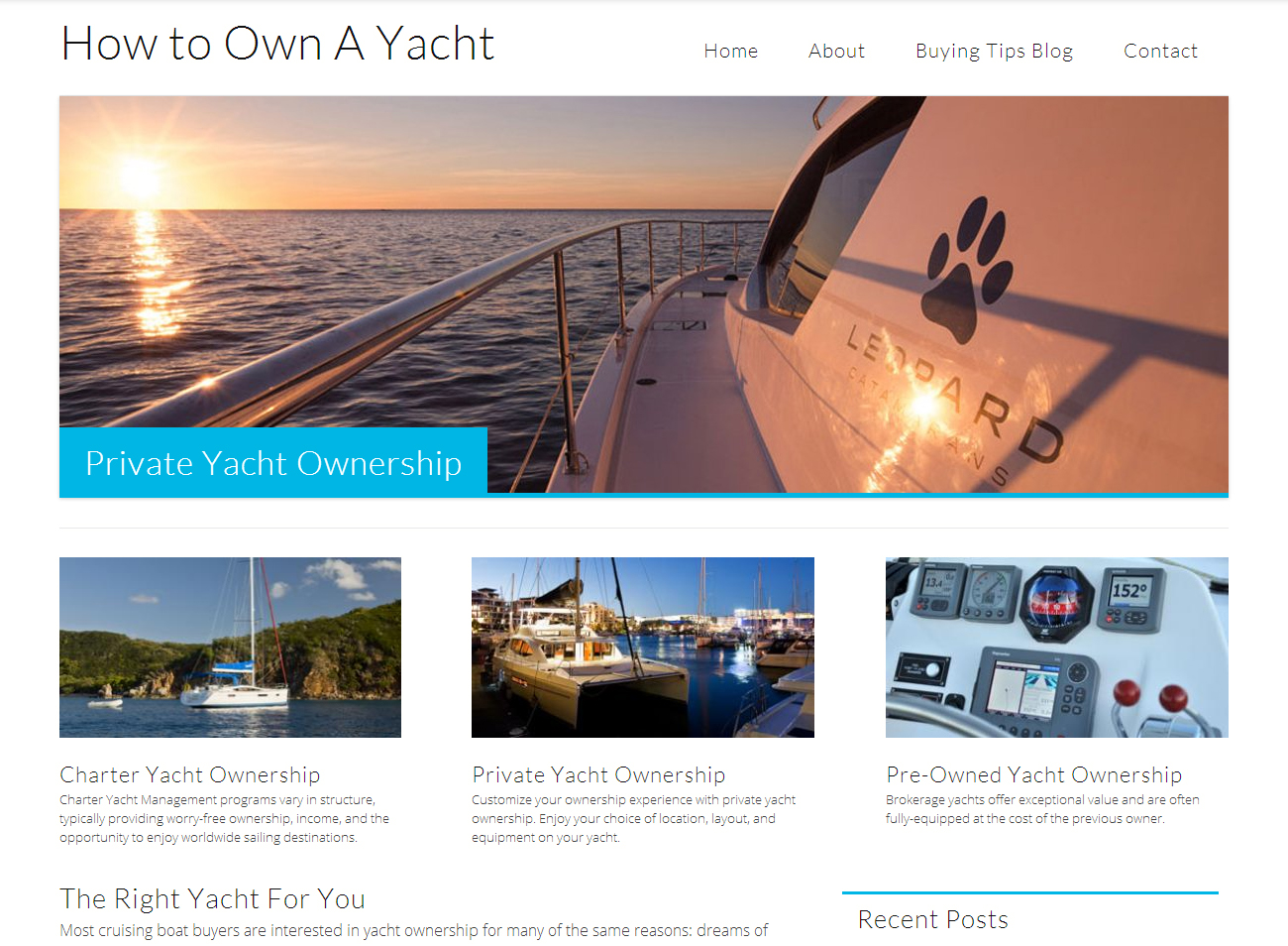 Yacht Ownership Website