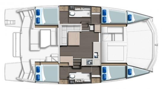 Leopard 43 PC 4 Cabins and Saloon