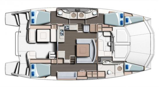 3 Cabins and Saloon
