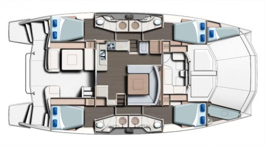 4 Cabins and Saloon