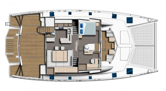 Owner Stateroom on Bridge and Saloon